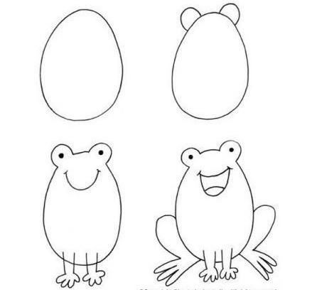孩子们学习简笔画