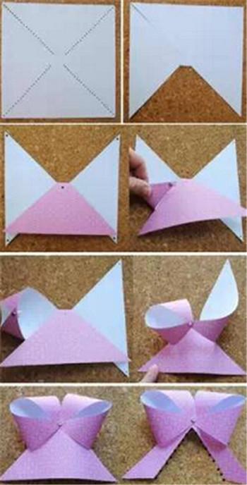 儿童叠纸手工制作过程