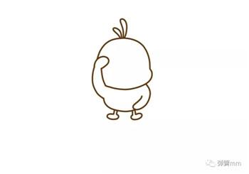 儿童简笔画之抖音网红小黄鸭