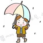 阴雨蒙蒙,来画一个下雨天打伞的萌妹纸