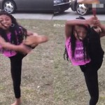燃爆!残疾女童戴假肢做出各种高难度动作