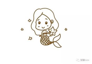 儿童简笔画之小美人鱼