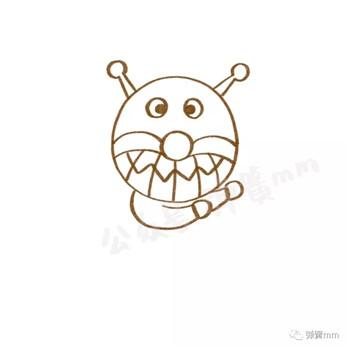 儿童简笔画之细菌人