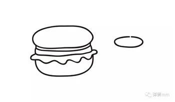 儿童简笔画之汉堡+可乐