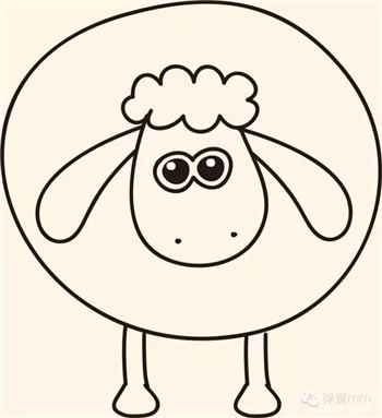儿童简笔画之小羊肖恩