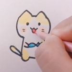 30秒画个猫咪,有娃的家长速来学!