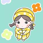 悼念人间水蜜桃,画个穿睡衣抱着腿的小女孩