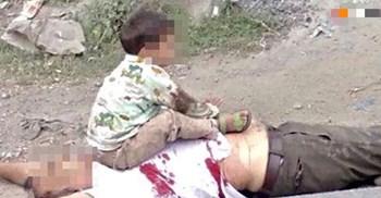 爷爷中流弹身亡,3岁孙子坐在尸体旁,眼神里尽是恐惧