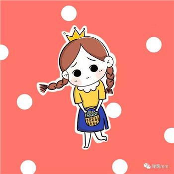 儿童简笔画之戴王冠的小姑凉