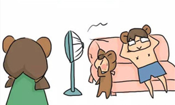 头疼,熊孩子总爱摸风扇!看看聪明家长的做法