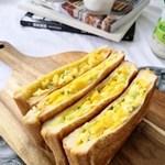 自制健康低脂日式鸡蛋三明治,便利店超火土司
