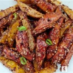 黑胡椒土豆条鸡翅来了,美味易做,小朋友点名要吃!