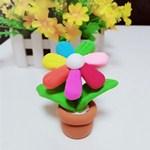 超轻粘土手工:漂亮的七色花