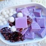 当之无愧的夏季甜品:白玉紫薯冻