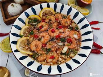 分享一道百香果酸辣柠檬虾,好吃不长肉!