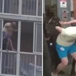 为惩罚妻子,男子扬言要把3岁儿子扔下楼