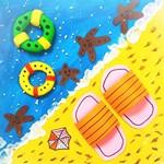 亲子手工:夏季主题之假日沙滩