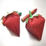 草莓折纸,一看就会!