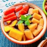 夏天必备小甜品之手搓水果凉粉